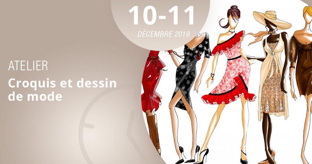 apprenez le croquis de mode en participant à l'atelier lignes et formations