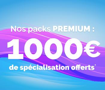 découvrez notre offre du mois ! 1000 euros de spécialisation offerts.